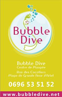 bubble dive carte de visite