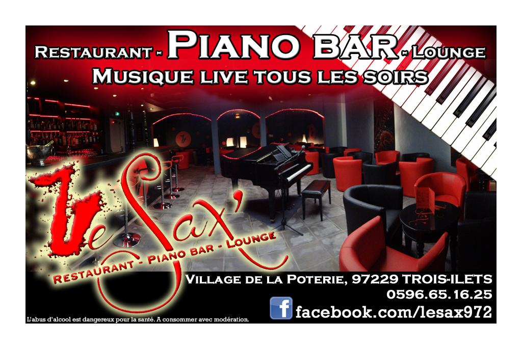 Favori LE SAX RESTAURANT PIANO BAR LOUNGE LES TROIS-ILETS | Martinique ZL09
