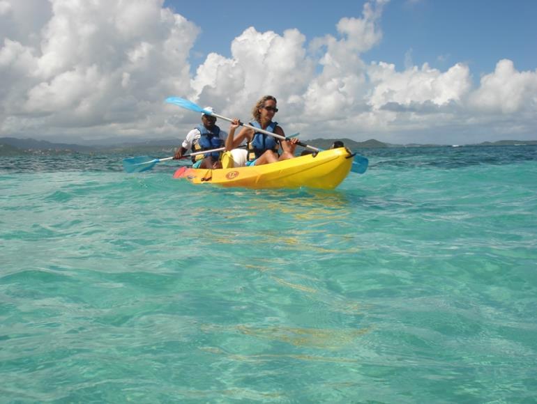 kayak avec guide